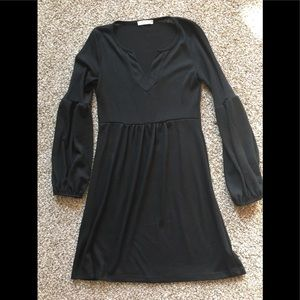 Black bell sleeve tunic. Size small.